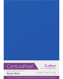 Crafter's Companion Centura Pearl Single Colour A4 10 Sheet Pack - Royal Blue