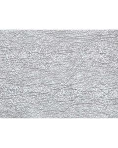 John Louden Supersoft Faux Leather Fabric - Silver