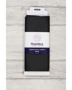 Threaders Faux Leather Fabric 137cm x 50cm - Black