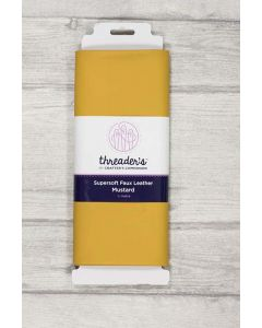 Threaders Faux Leather Fabric 137cm x 50cm - Mustard