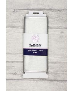 Threaders Faux Leather Fabric 137cm x 50cm - Silver