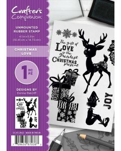 Crafter's Companion A6 Rubber Stamp - Christmas Love
