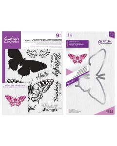 Crafter's Companion Layering Stamp and Die - Majestic Butterfly