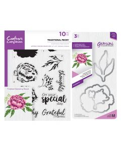 Gemini Layering Dies and Stamps - Traditional Peony Collection