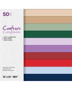 Crafter's Companion 12 x 12 Matt Cardstock - Naturals