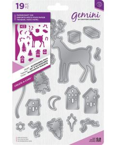 Gemini Create-a-Card Christmas Dimensionals Metal Die - Sleigh Accessories Pack