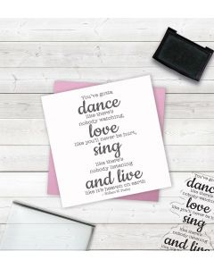 Crafter's Companion Clear Acrylic Stamp - Dance, Love, Sing, Live