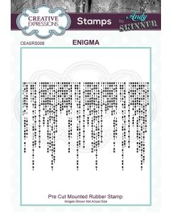 Creative Expressions Rubber Stamp by Andy Skinner - Enigma