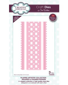Craft Dies by Sue Wilson Filigree Artistry Collection - Squares and Crosses Border