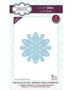 Creative Expressions Festive Collection Triple Layering Die - Meredith