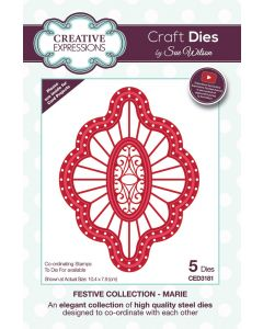 Creative Expressions Festive Collection Craft Die - Marie