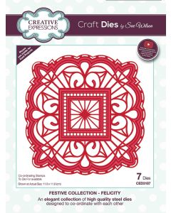 Creative Expressions Festive Collection Craft Die - Felicity