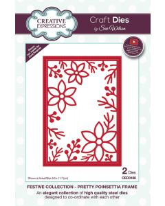 Creative Expressions Festive Collection Craft Die - Pretty Poinsettia Frame