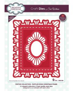 Creative Expressions Festive Collection Craft Die - Ruffled Edge Christmas Frame