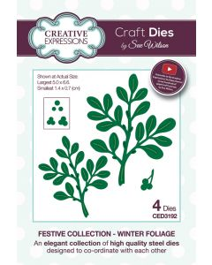 Creative Expressions Festive Collection Craft Die - Winter Foliage