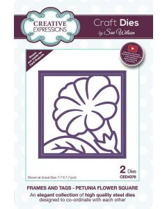 Sue Wilson Frames and Tags - Petunia Flower Square