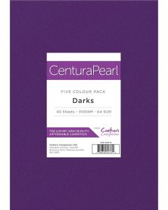Crafter's Companion Centura Pearl Printable Card Pack - A4 Darks