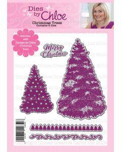 Dies by Chloe - Christmas Trees Die Set