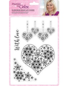 Stamps by Chloe - Blossoming Heart and Corner