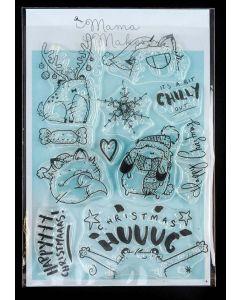 Mama Makes Clear Photopolymer Stamps - Christmas Hug