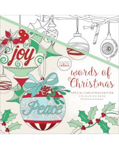 """KaiserColour Perfect Bound Coloring Book 9.75""""X9.75"""" - Words of Christmas"""