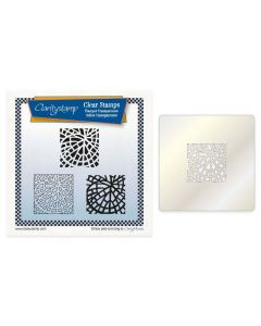 Claritystamp A5 Square Stamp Set + Stencil - Fossil Leaf Tile