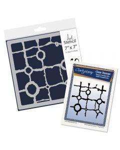 Claritystamp Stamp & Stencil Set - Rocky Block