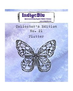 IndigoBlu Collectors Edition Rubber Stamp - Number 21 - Flutter