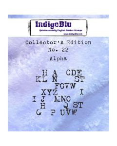 IndigoBlu Collectors Edition Rubber Stamp - Number 22 - Alpha