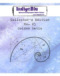 IndigoBlu Collectors Edition Mini Rubber Stamp No.25 - Golden Ratio