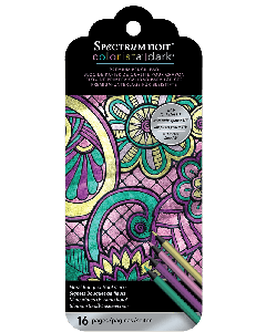 Spectrum Noir Colorista Dark Bookmark Pencil Pad - Floral Bouquet