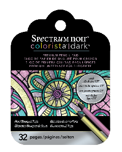 Spectrum Noir Colorista Dark Tag Pencil Pad - Floral Bouquet