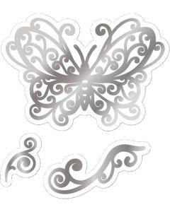 Gemini FOILPRESS Butterfly Swirls Stamp 'N' Cut Die Elements