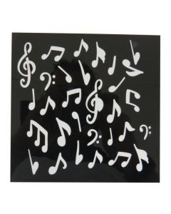 """Craft Sensations 6""""x6"""" Card Making Deco Stencil Set - Music and Patterns"""