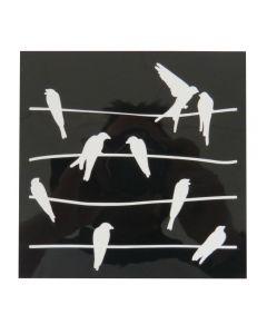 "Craft Sensations 6""x6"" Card Making Deco Stencil Set - Birds and Nature"