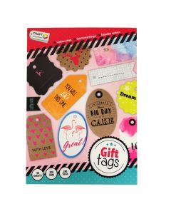 Craft Sensations A5 200gsm Gift Tag Pad - With Love