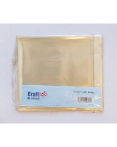 Craft UK 6x6 Cello Bags - pack of 50