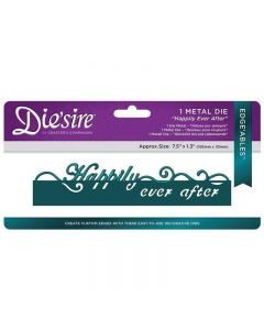Die'sire Large Format Edge'ables Only Words Metal Die - Happily Ever After