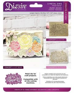 Die'sire Create-a-Card Cut on Edge Metal Die - Floral Spray