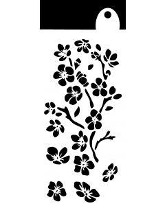 IndigoBlu 6x3 Stencil - Ditzy Flowers