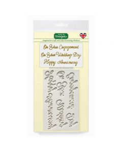 Katy Sue Designs Decorating Mould - Word Perfect Wedding Set