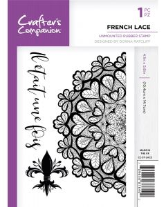 Crafter's Companion A6 Rubber Stamp - French Lace