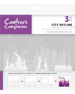 Crafter's Companion 3D Layering Stencils - City Skyline