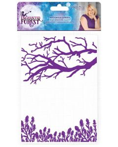 Sara Signature Enchanted Forest 5x7 Embossing Folder  - Mysterious Garden