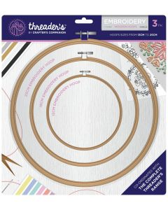 Threaders Wooden Embroidery Hoop Set
