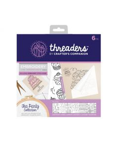 Threaders Embroidery Transfer Sheets - Tea Party