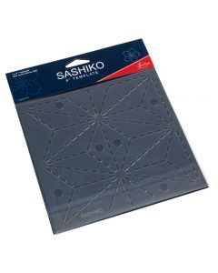 Sew Easy Sashiko 6 inch Template - Asa No Ha (Hemp Leaf)