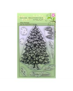 Claritystamp Jayne Nestorenko Stamp Set -  Evergreen Tree