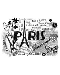 Woodware Clear Singles - Paris Postcard