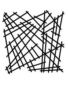 Creative Expressions Woodware 6 x 6 Stencil - Broken Mesh